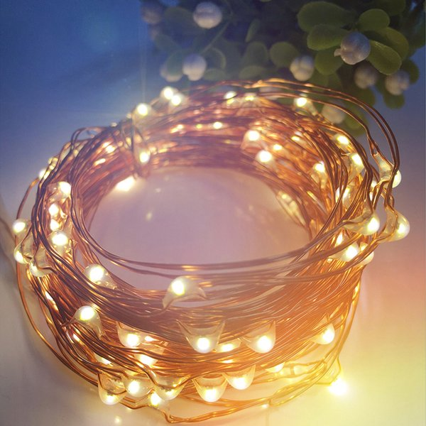 5M 10M Copper Silver Wire Battery Powered RGB LED String Light Christmas Tree Fairy Lights For Wedding Party New Year Decoration