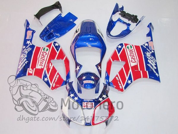3gifts Fairing kits for HONDA VTR1000 RC51 SP1 SP2 00 01 02 03 04 05 06 Fairings set VTR1000RC51 SP1/2 blue red painted fairing
