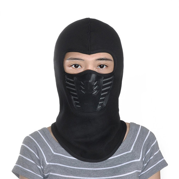 Outdoor Equitazione Sci Maschera Copertura Ninja Stile Testa Cap Warm Ispessimento Fleece Maschera Con Funzione di Filtraggio Trasporto di G