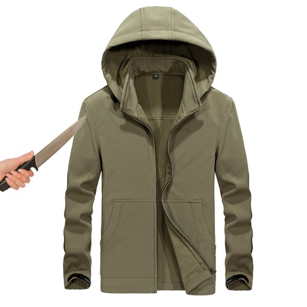 Tactical gear anti-cut knife cut-resistant clothing anti stab-proof jacket coat security clothing water proof hooded men jacket