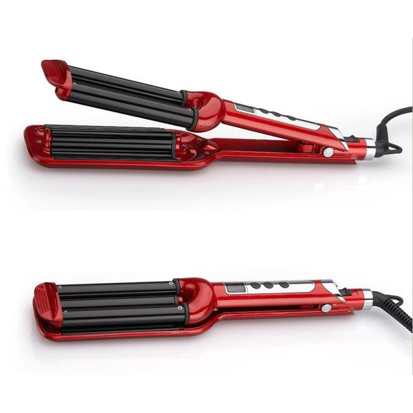 2018 High Quality Professional 110-220V Hair Curling Iron Ceramic Triple Barrel Curler Hair Waver Styling Tools Styler ST2288 10pcs