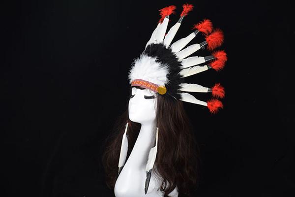 Cabeza de la pluma de novia indio cosplay