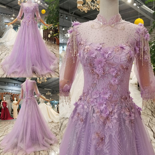 MAGGIEISAMAZING Wholesale REAL PHOTOS high collar a line Exposed Boning back lace up court train Prom Dresses formal dress CYH612470