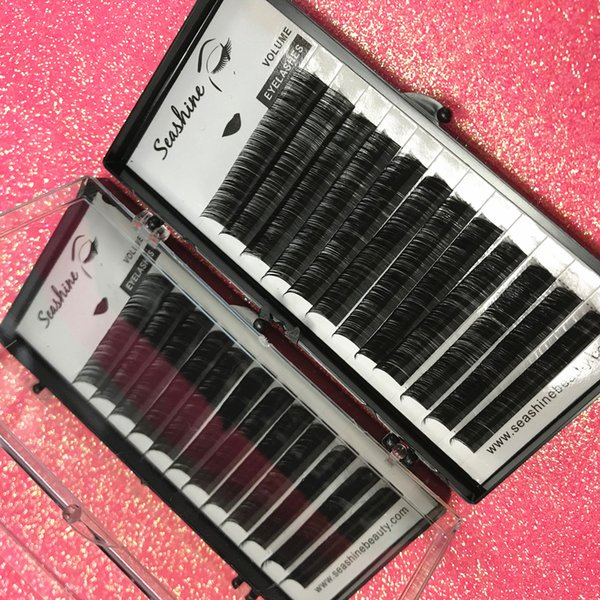 12 Rows/Tray One By One Individual Lashes Premade Fans Classic Eyelashes Extension Customize Logo South Korean Silk Lashes