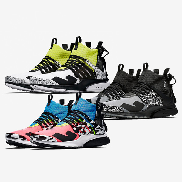 Original ACRONYM x NIK Presto Running Shoes Authentic Sports Warrior Shoes Sneakers For Men Women Boots Outdoor Trainers
