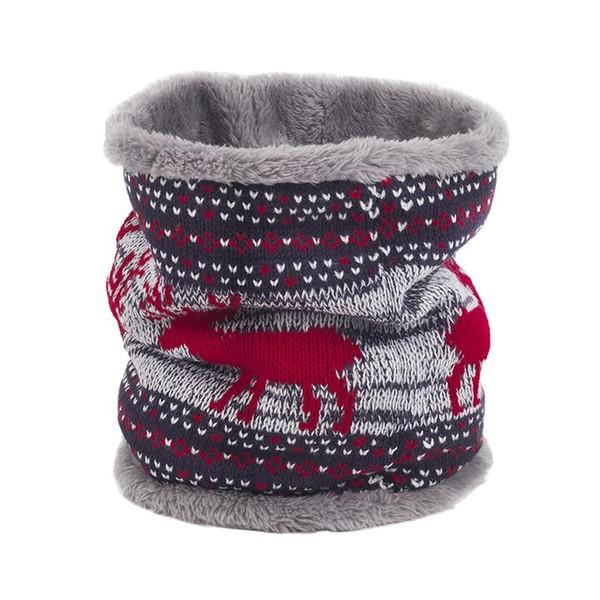 2018 Damen Herren Winter Warm Neck Ring Wraps Strickwolle Cowl Kragen Kreis Schal Weibliche Snood Thermische Ski Fleece Schals