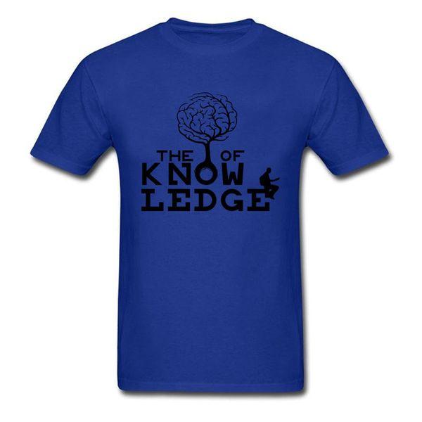 0eec43aadf Retro Árvore De Conhecimento Dos Homens O-pescoço Curto Engraçado T Shirt