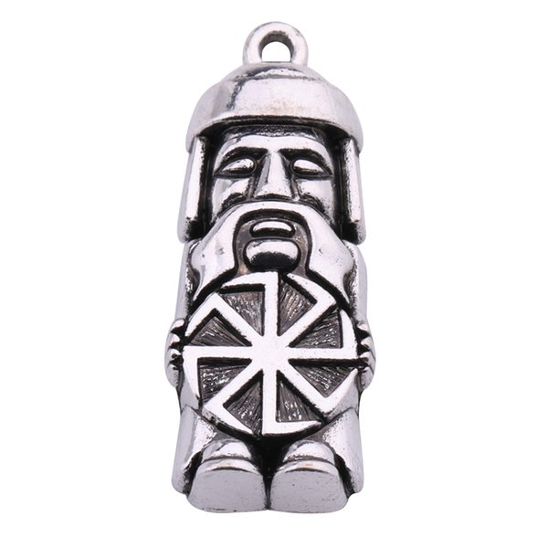Dawapara Domovoi Greybeard Male Slavic Pendant Amulet Charm Jewelry Statement Necklace Figure Symbols for Men and Women
