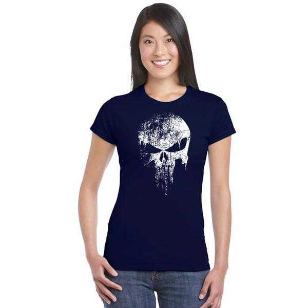 Camiseta de moda vintage cráneo impreso camiseta de algodón de verano de manga corta jersey homme gimnasios básicos Top camisetas camisetas de fitness de las señoras