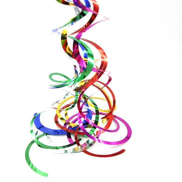 Lüftungs Partei-Feiertag DIY Dekorationen 6pc / pack Decke hängende Swirl Dekoration Metallic für Hochzeit Weihnachten Halloween-Geburtstags-Party Dezember ...
