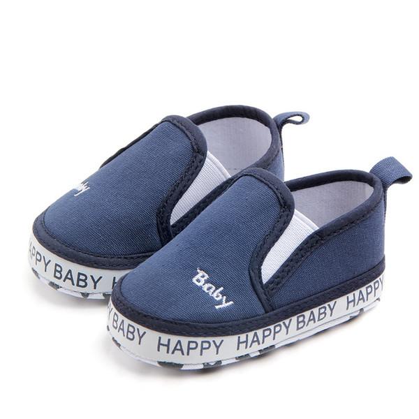 Zapatos de bebé Letra de lienzo clásica Zapatos de niña Bebé Algodón First Walker Fashion Boy