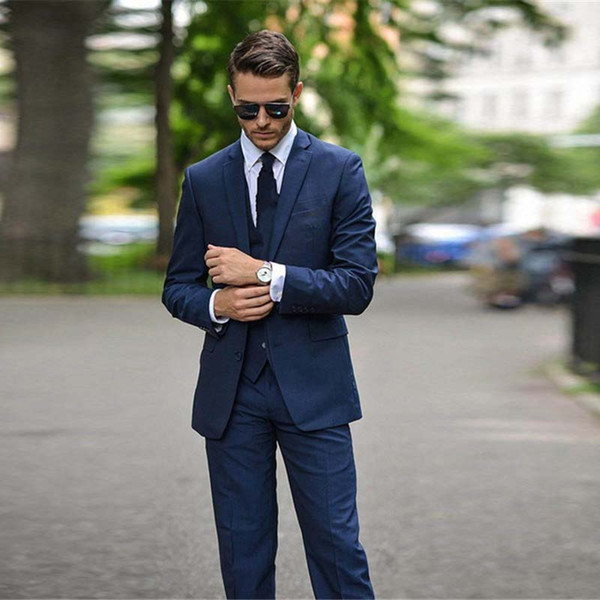 Men's Business Casual, Groom, Best Man, Three Suits, Single Breasted Men Suits For Wedding Traje De Hombre Elegante Four Seaso