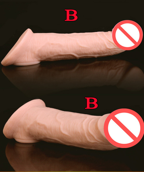 best selling Super Soft Realistic Silicone Penis Extender Sleeve Cock Enlargement Enhancer Reusable Delay Gonobolia Dick Ring Adult Sex Toy For Men