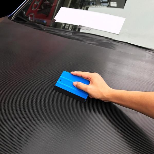 1 PZ Auto Vinile pellicola strumenti di avvolgimento Blu raschietto tergipavimento con feltro dimensione 13 cm * 8 cm Car Styling Adesivi Accessori