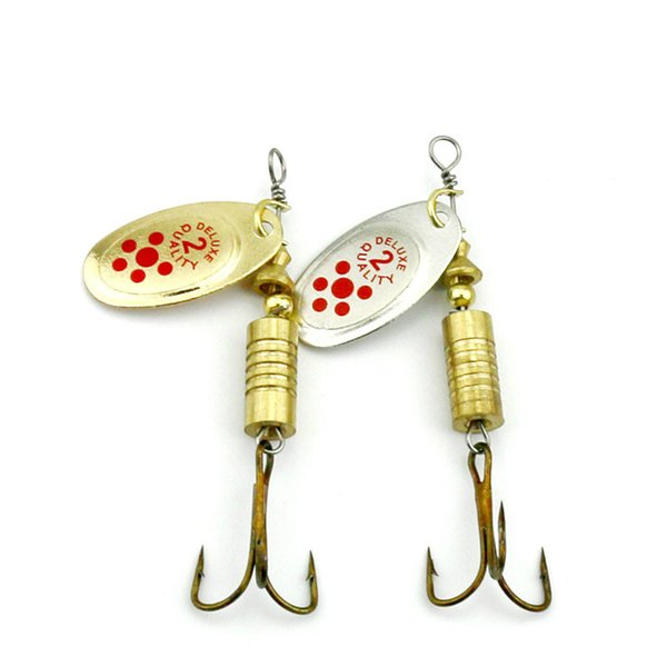 10pcs 7.3g Mepps Hot Spoon Lure Metal Spinner Fishing Lures 2 Colors Pesca Artificial Fishing Tackle Spinnerbait