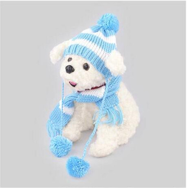 Wholesales free shipping hot sales Caps Scarf Dog Suit Hat Hat Scarf Set Dog Apparel Hat