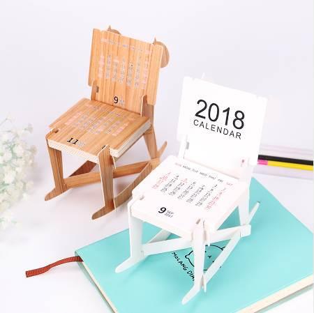 top popular Creative Cute Trojan Horse Modeling Calendar Chair Style Planner Calendar 2018 Calendar Office Supplies 2020