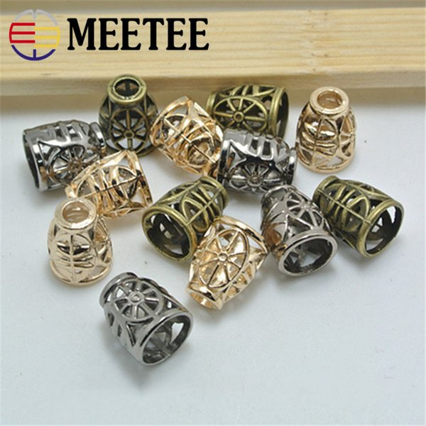 MEETEE 20PCS DIY button Coat down jacket shirt clothing accessories high-grade metal bell wear rope buckle G9-3