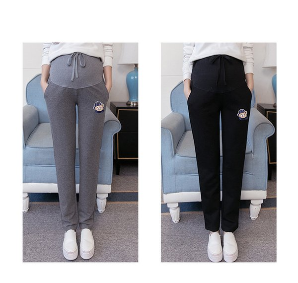 Spring Autunm Maternity Leggings High Waist Pregnancy Belly Pants For Pregnant women Maternity Thin Trousers Clothes