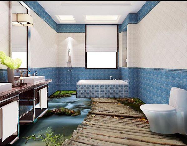 Grosshandel Pvc Selbstklebende Boden 3d Badezimmer Boden 3d Pvc Bodenbelag Wasserdicht Luxus Boden Tapete Von Yyyy2015 50 26 Auf De Dhgate Com