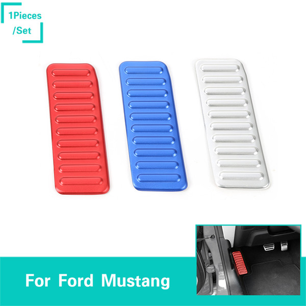 Car Left Foot Rest Pedal Decoration Covers Aluminum alloy Fit For Ford Mustang 2015-2016 Auto Interior Accessories