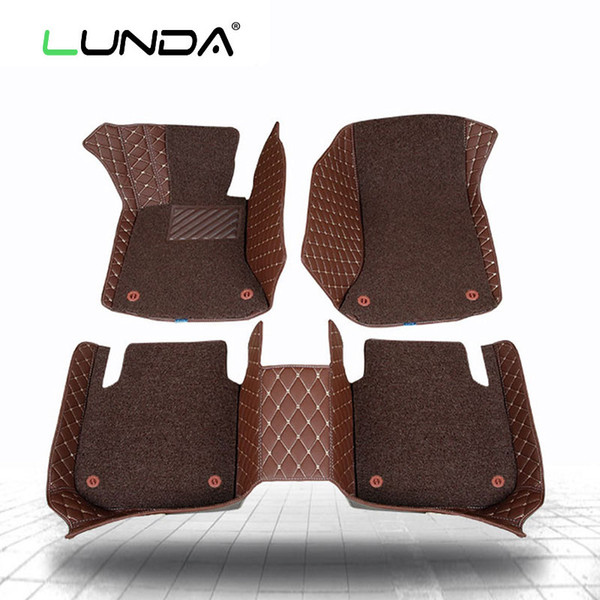 Car floor mats 3D for Z4 i3 i8 M2 M3 M4 M5 M6 X1 X3 X4 X5 X5M X6M 1 3 4 5 7 Series Left hand drive Two layers of car-styling