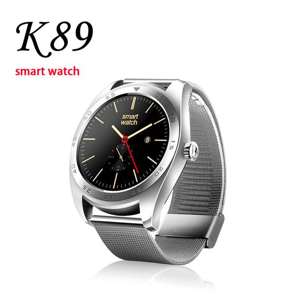 K89 Akıllı Izle Kalp Hızı iPhone Akıllı Bilezik LCD 1.5inch Ekran SIM Kart Akıllı Cep Telefonu Smartphone için