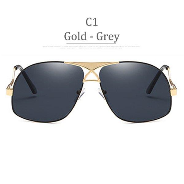 Lenti grigie con montatura in oro lucido C1