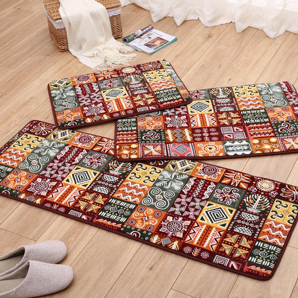 3pcs/set Anti-slip Floor Mat Carpet Bath Mats Kitchen Rugs Soft Memory Foam Entrance Doormat 7 Designs
