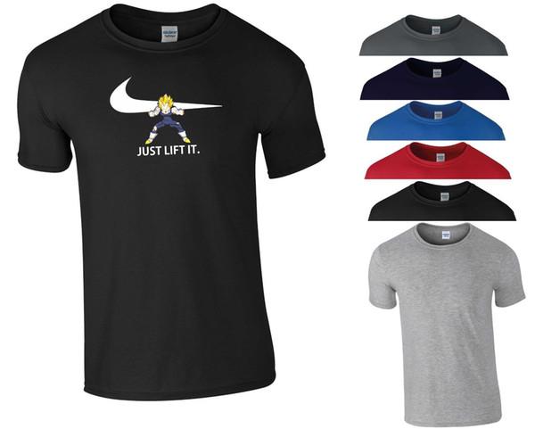 Compre Just Lift It T Shirt Culturismo Gimnasio Motivación Mma Dragon Ball Z Goku Hombres Topunisex Divertido Regalo De Envío Gratis Camiseta Casual A