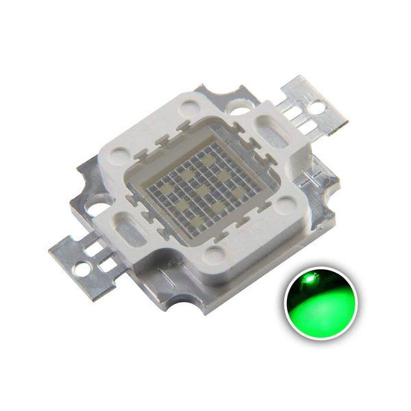 High Power Led Chip 10W Green (900mA/DC 9V-11V/10 Watt) Super Bright Intensity SMD COB Light Emitter Components Diode 10 W Bulb Lamp Beads