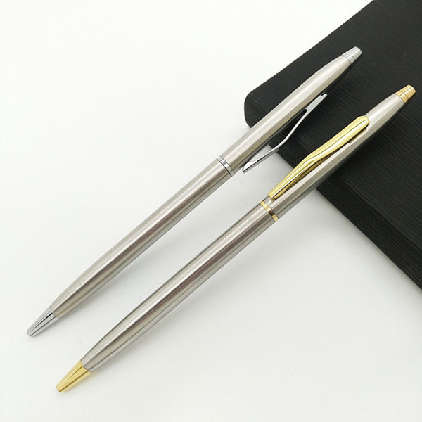 1Pcs Creative Metal Ballpoint Pen Mini Gold Silver Roller Ball Pens For Writing Girls Gift School Supplies Novelty Stationery