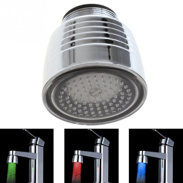 Brand new Temperature Sensor 3 Color Kitchen Water Tap Faucet RGB Glow Shower LED Light