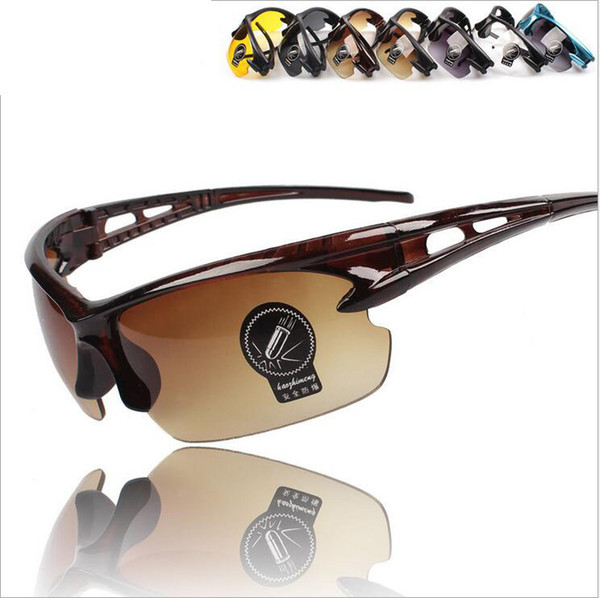 Outdoor Sport Cycling Bicycle Bike Riding Sun Glasses Eyewear Goggle UV400 Lens Black Double Gray Lens