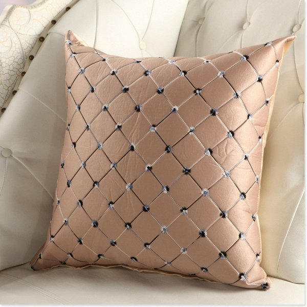 Strange Hot Sale Home Sofa Bed Decor Multicolored Plaids Throw Pillow Case Square Cushion Cover Silver Gray 43 43Cm Pillow Case Dress Couch Pillow Covers From Ncnpc Chair Design For Home Ncnpcorg