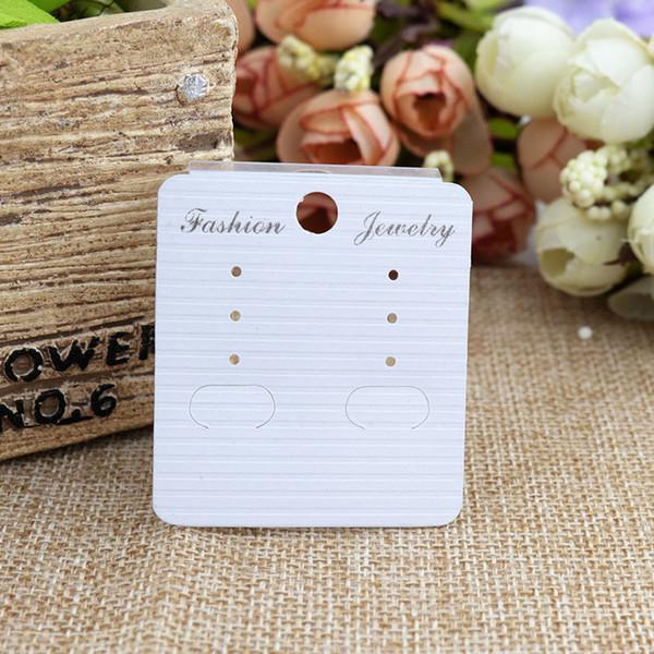 100pcs White Ear Hooks Earring Display Cards 4.5*5cm paper Earring Cards Display Earring tag
