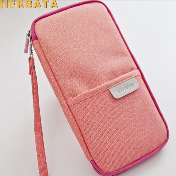 Solid Color Canvas School Pencil Case Large Capacity Pencil Bag Creative Stationery Pen Case Box CL-19129