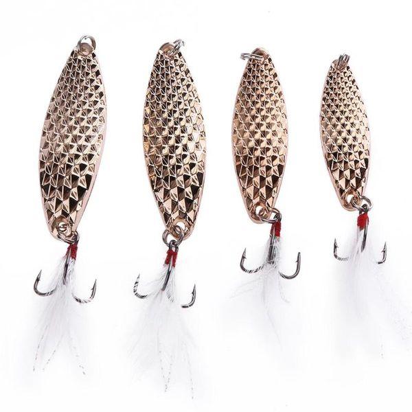Tackle Metal VIB Zinc Alloy Hard Leech Spoon Lure Bait Artificial Pike Lure Lures Swimbait Fishing Accessory Fishing