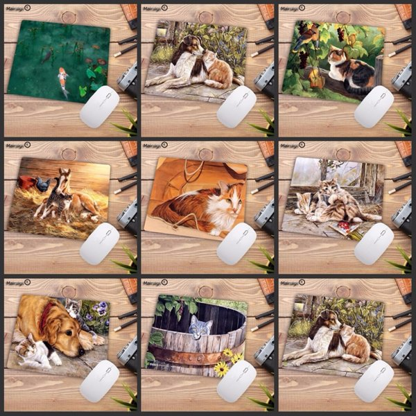 Mairuige Big promotion Hot 2018 Cute Cat Mouse Pad for Internet Game and Office Use 18X22CM to mouse notbook computer mousepad