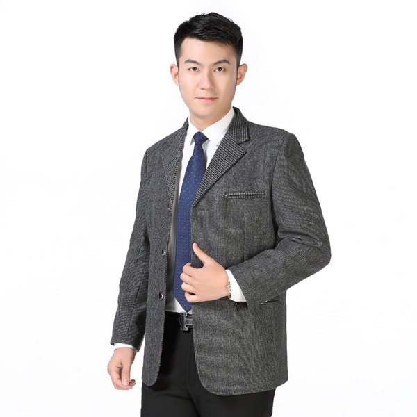 Man Casual Blazers Gray Elegance Jackets Suits Men Leisure Outfits Costume Male Spring Autumn Blazer Homme Jacket Suit Tailored