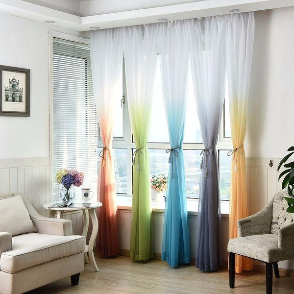 Compre 100 * 270 Cm Estilo Europeo Color Blackout Bars Jacquard Cortinas  Para El Dormitorio Tulle Cortinas Establece En La Ventana De La Cortina Del  ...