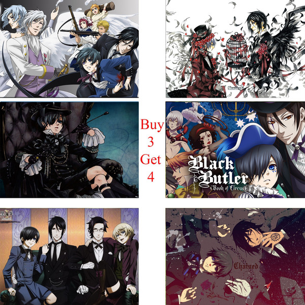 Black Butler Poster Clear Image Wall Stickers Home Decoration High Quality Prints White Coated Paper home art Brand
