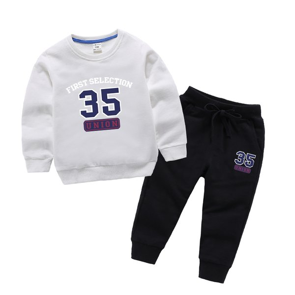 2-8 Years Old New Sweater Children's Trousers Suit Spring and Autumn Sports 35th Children's Two-Piece Children Suit