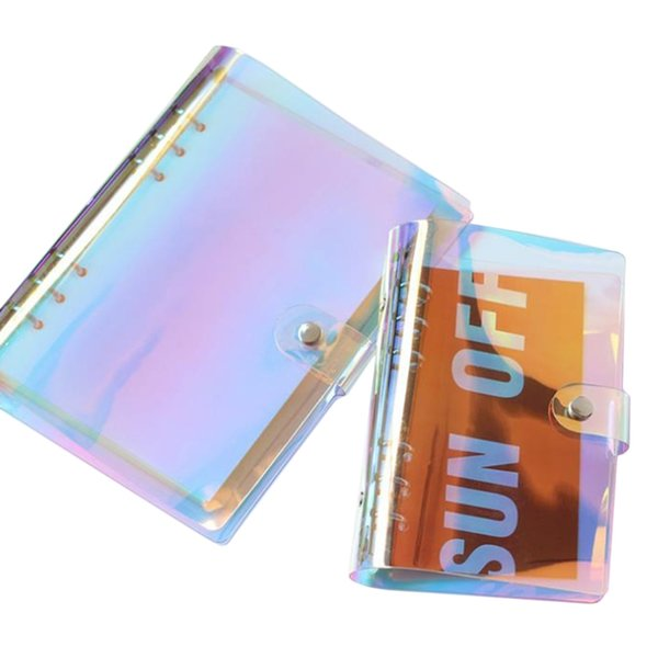 A5 A6 6 Holes Binder Folder File Cover For Journal Not Diary Notepad PVC School Supplies Stationery Gift