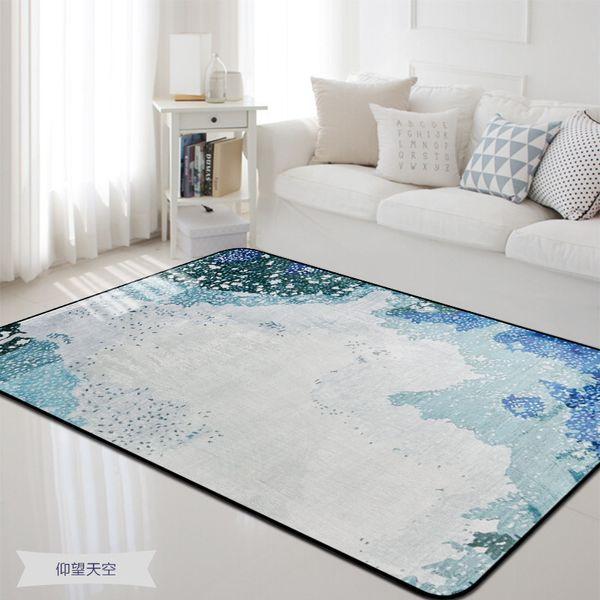 Blue Rug And Carpet For Home Living Room And Bedroom Rug Floor Mat Bedside  Soft Carpet For Bedroom Anti Slip Floor Mat Commercial Grade Area Rugs ...