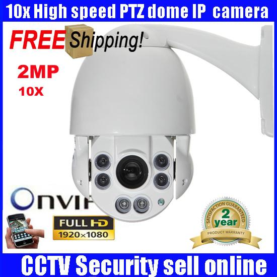 "4.5"" IP Camera ONVIF 1080p Full HD 2MP Medium Speed Dome Cameras CCTV Outdoor camera 10X ZOOM IR 50m Day/Night HD PTZ Camera"