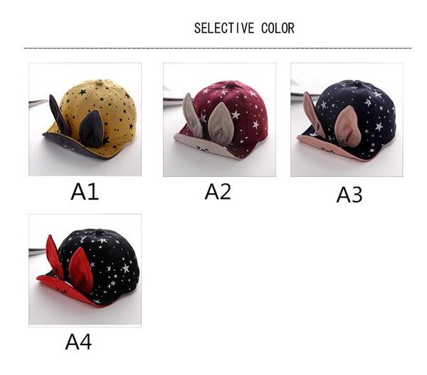 best selling Baby Hat Spring Boys and girls 5-24 Month Cute Princess Rabbit Ear Cap visor Baseball cap