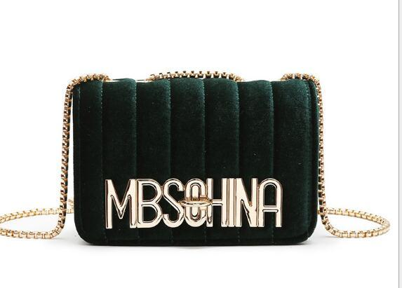New fashions in autumn and winter, fashionable women's bags, gold velvet, Korean version, women's bags, ladies' chain bags