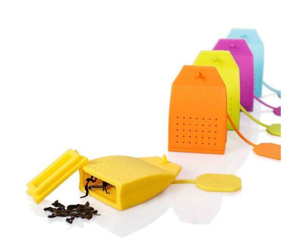 Food Grade Silicone Tea Infuser Exquisite Kitchen Gadget Strainer Popular Bag Shaped Filter With Multi Color 2 8fy jj
