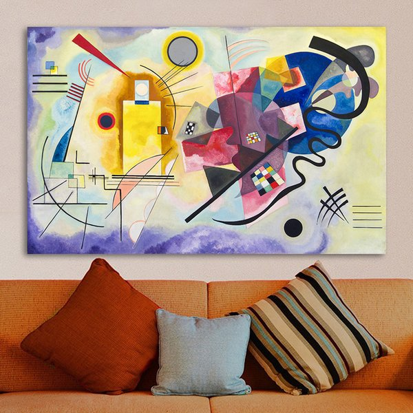 Abstract Wall Pictures Art For Living Room Home Decor Giallo Rosso Blu Wassily Kandinsky Pittura a olio Senza cornice